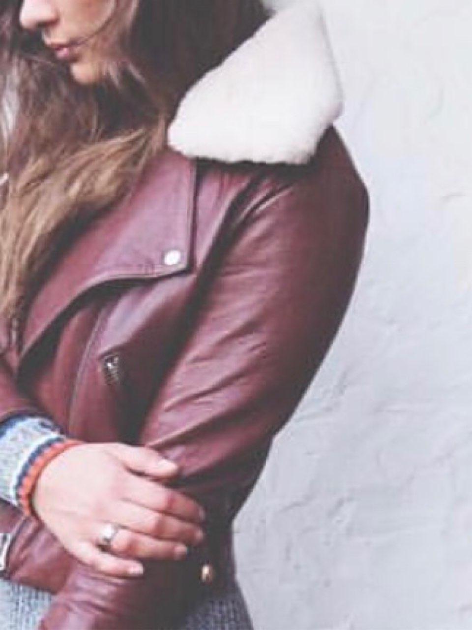 Acne skinnjakke brun • Tise