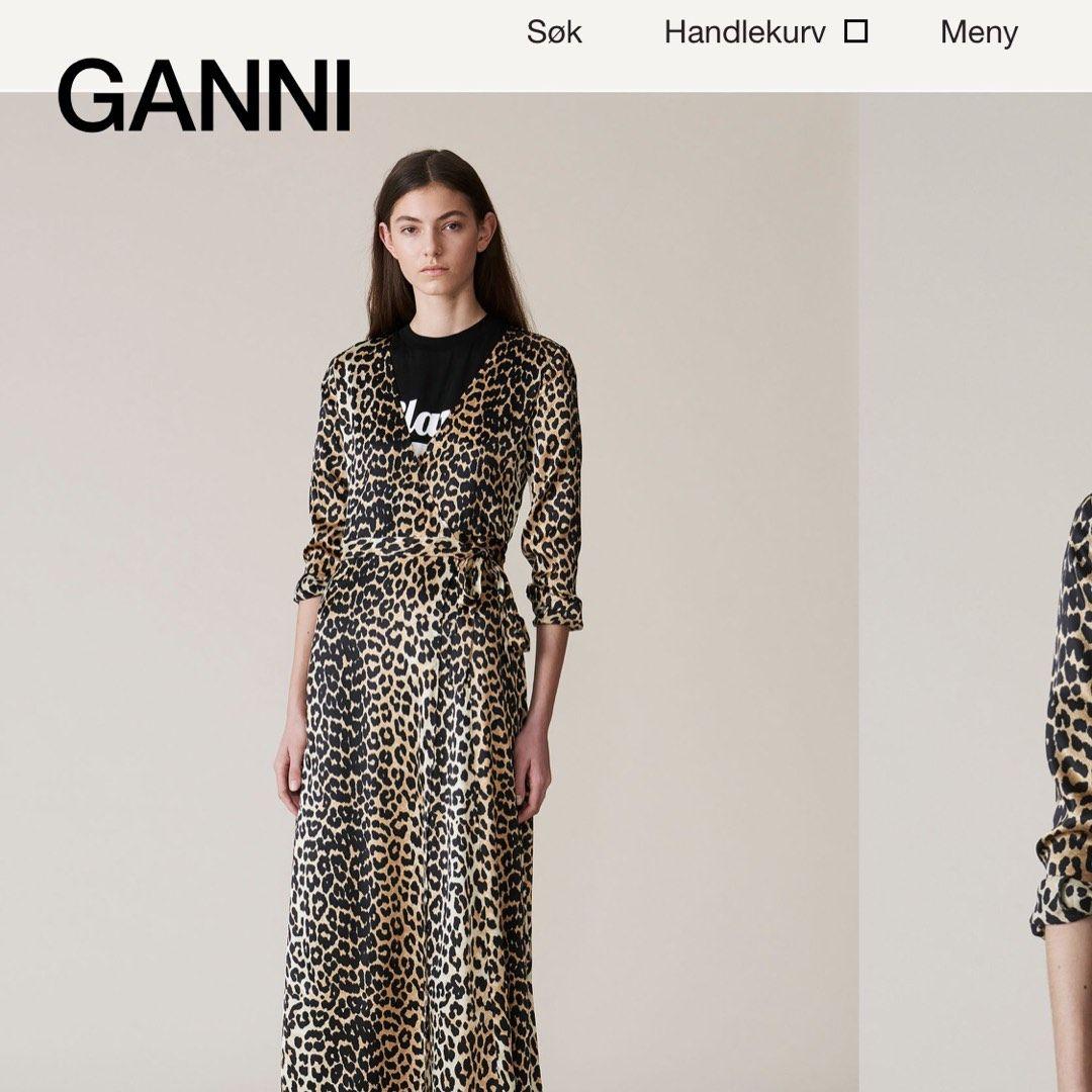 Ganni leopard kjole