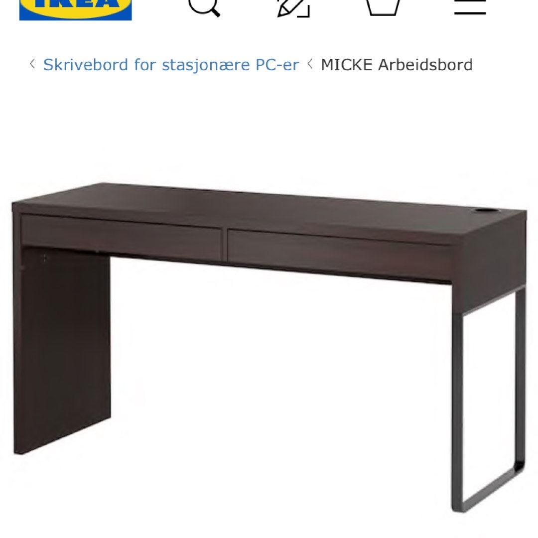 Skrivebord Fra Ikea Tise