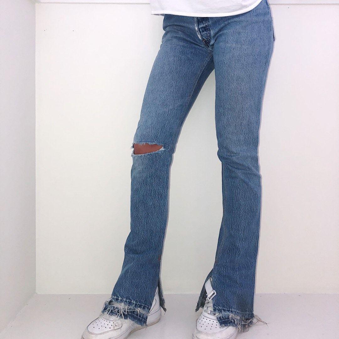 Bukse med splitt